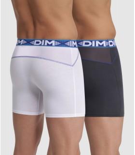 Pack 2 boxer DIM 1N2 BLANCO-GRIS